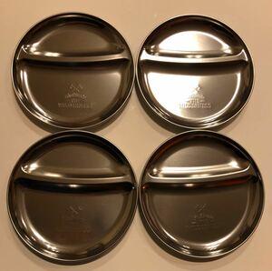 【新品 未使用】ステンレス プレート カレー皿 ×4枚