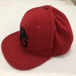 パーリーゲイツ PEARLY GATES メルトン フラットブリムキャップ キャップ 帽子 ぼうし 赤 レッド red M ゴルフ golf スポーツ ファッション