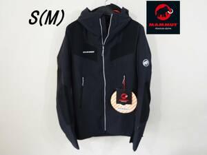 残1 プロ仕様 ストレッチ 防風 ソフトシェル S M 新品 防風ジャケット マムート ジャケット mammut Aenergy Pro SO Hooded Jacket 黒
