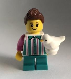 即決 新品 未使用 レゴ LEGO ミニフィギュア ミニフィグ シティ タウン 小鳥と女の子 ペット かわいい子供