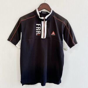 le coq sportif ルコックスポルティフ 半袖 ポロシャツ Lサイズ 大きいサイズ ハーフジップ スポーツ ゴルフ golf ブラック 黒 デサント