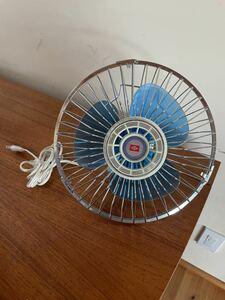 【昭和レトロ家電】ライト扇風機 動作確認済み 径27cm 日栄電気産業 スタンド無しサーキュレーター アンティーク 天井扇風機