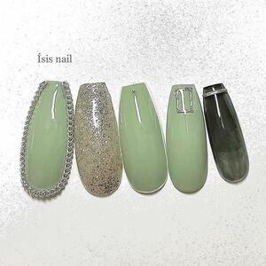 ネイルチップ 韓国 チェーン ブライダル 付け爪 韓国ネイル ブライダル 成人式 シンプルネイル