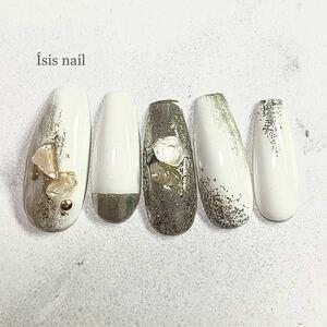 ネイルチップ 天然石 個性派ネイル オーダーネイル  付け爪 ネイルアート ブライダル 成人式 成人式ネイル ミラーネイル 韓国