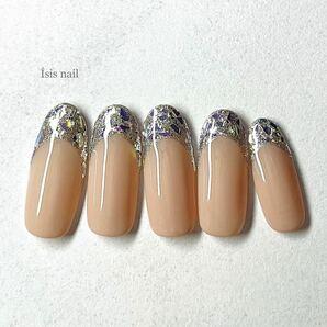 ネイルチップ ジェルネイル ガラスフレンチ フレンチネイル オフィスネイル ブライダルネイル 成人式ネイル 結婚式 前撮り 付け爪