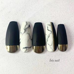 ネイルチップ 大理石 マットネイル ミラーネイル ゴールド  付け爪 ネイルアート 成人式ネイル 前撮り 成人式 ブライダル