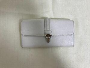 本物キタムラkitamura本革レザー二つ折り長財布サイフ札入れビジネスレディース旅行トラベル白ホワイト日本製