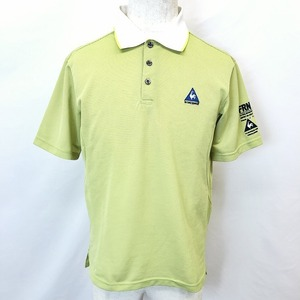 le coq sportif GOLF COLLECTION ルコックスポルティフ ゴルフ M メンズ ポロシャツ カットソー ロゴ刺繍 半袖 ポリ100% グリーン 緑
