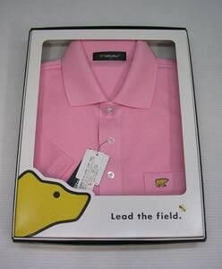 ★ 未使用 【ゴールデンベア】 メンズ ゴルフウェア 《Sサイズ》 日本製 半袖 ポロシャツ ピンク ★