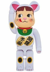 BE@RBRICK 招き猫 ペコちゃん 初期 白 1000% 新品 MEDICOM TOY ベアブリック 新品未開封