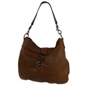 miumiu ミュウミュウ レザー ハンドバッグ トートバッグ ブラウン 保存袋