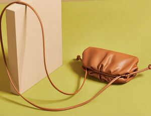 レザーバッグ 本革 がま口 ショルダーバッグ ミニバッグ オールレザー ブラウン 新品未使用