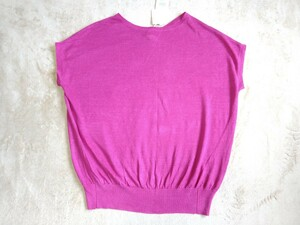 ●ビームス BEAMS ビーミング by ビームス ローズピンク キレイ色 リネン素材 麻 フレンチ袖セーター 新品