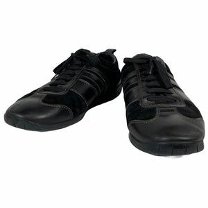 LOUIS VUITTON ルイ ヴィトン GO0065 メンズ スニーカー シューズ 靴 スエード レザー ダークブラウン [サイズ 9 (約28cm)]