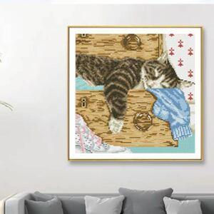 クロスステッチ刺繍キット 猫 手芸材料