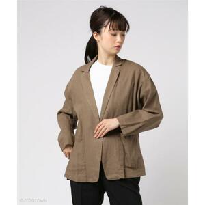 【Aunt Marie's】 AUNTMARIE'S コットンリネンテーラードジャケット