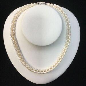 パールネックレス SILVER 天然 真珠