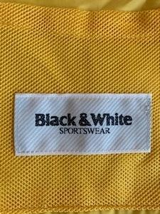 美品! ブラック&ホワイト Black & White 収納袋 ポーチ ナイロン素材 用途多数 黄色