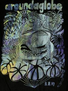 カラフル カエル 半袖Tシャツ Lサイズ aroundaglobe 未来的 キノコ 毒 きのこ Tシャツ 銘作 ガマガエル 蛙 爬虫類