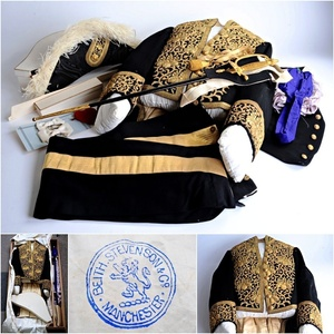 勅任文官大礼服 一式 大日本帝国 大礼服 軍服 鳳凰サーベル付 明治19年式 戦時資料 制服