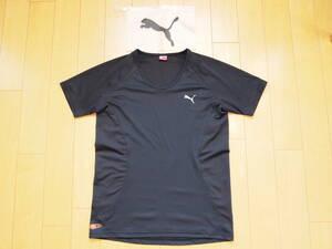 PUMA X BEAMS トレーニングシャツ 黒 Lサイズ Uネック インナー スポーツウェア プーマ ビームス Tシャツ ドライ ブラック