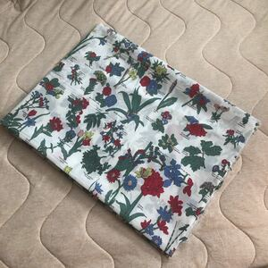 植物 生地 コットン プリント 1m 新品 布 ハンドメイド はぎれ