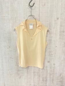 ◆CHANEL シャネル ノースリーブシャツ フランス製 正規品 ココマーク ヴィンテージ