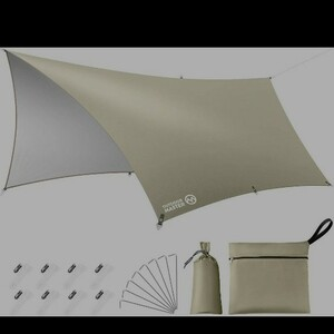 OUTDOORMASTER防水タープ テント日除け 遮熱 遮光 軽量 UPF50+ 紫外線99.9%カット3000mm耐水圧