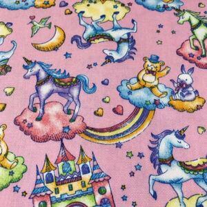 ユニコーン 虹 メルヘン ピンク 100×50 オックス
