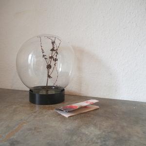 希少ドイツ ヴィンテージ Scheuerich吹きガラスドーム宝石箱ジュエリーボックス陳列棚オブジェ鏡小物古道具アート店舗什器ディスプレイ水槽