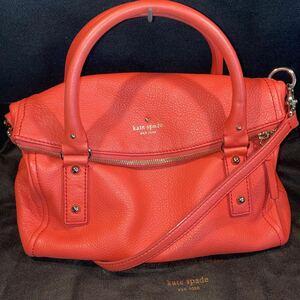 kate spade NEW YORK  ケイト・スペード 2way bag ハンドバッグ 赤 トートバック 袋付き かばん 鞄 ショルダー