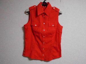美品★バーバリー★袖なしシャツ*オレンジ*size40