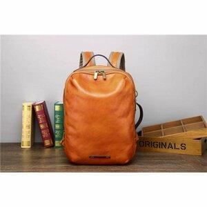 バックパック メンズ リュックサック デイパック ザック 鞄 肩掛けカバン 旅行 通勤 通学用バッグ レザー 本革大容量 AMWYY-MB-232