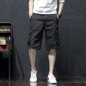 サマー メンズ ショートパンツ 作業着 カーゴパンツ ハーフパンツ ワークパンツ ミリタリーパンツ 短パン ブラック w30~w44
