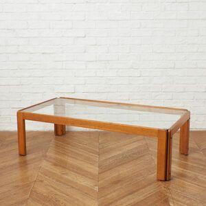IZ50215F○北欧 スタイル オーク 無垢材 センターテーブル ガラストップ 天板 ローテーブル コーヒーテーブル ナチュラル モダン スタイル