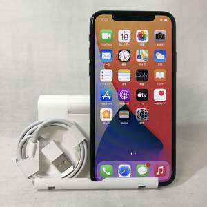 美品 海外版 シャッター音なし simフリー iPhoneX 64GB ブラック 制限なし 送料無料 /YZX5578