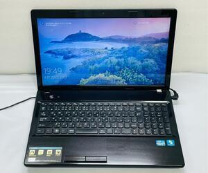 ☆Lenovoノートパソコン G580☆Win10/Microsoft Office付き/core i5-3210M/SSD256GB搭載/メモリ4GB/15型/中古/PC/P282