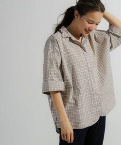 niko and... ニコアンド マーセビッグショートシャツ M チェック柄 シャツ 半袖
