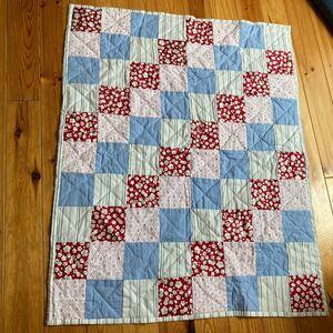 パッチワーク キルトマット 手縫い101かける81 カントリー コットン100