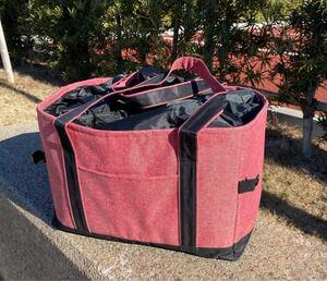 新品レジカゴバッグ 保冷保温折りたたみ エコバッグ 大容量レジかごバック レッド