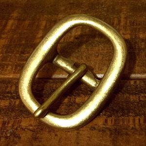 バックル 真鍮 ブラス 24mm レザー ベルト 革 2.4cm 美錠 尾錠 日型 カスタム レザークラフトに bcl-010-24