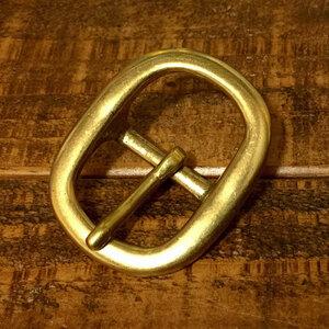 バックル 真鍮 ブラス 21mm レザー ベルト 革 2.1cm 美錠 尾錠 日型 カスタム レザークラフトに bcl-010-21