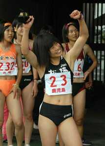生写真 陸上女子 レーシングブルマ グラビア 松
