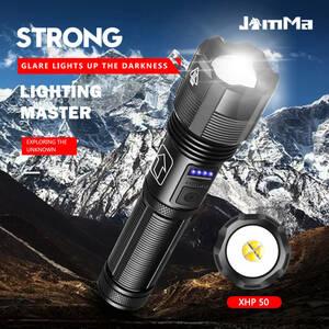 【2本セット】明るさ重視 XHP50LEDチップ LED懐中電灯 ハンディライト コンパクト フラッシュライト
