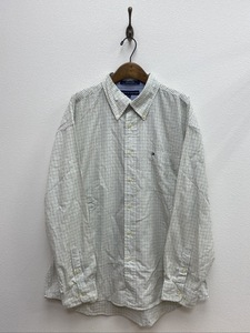 TOMMY HILFIGER 長袖 ボタンダウン チェックシャツ トミーヒルフィガー XL グリーン ☆ちょこオク☆ 佐川80サイズ