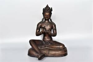 中国仏教美術/仏像/仏像彫刻/坐像/古玩/古美術品/銅製/菩薩/菩薩像/唐物/仏教/置物/