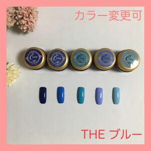 【カラー変更可】The ブルー カラージェル ジェルネイル