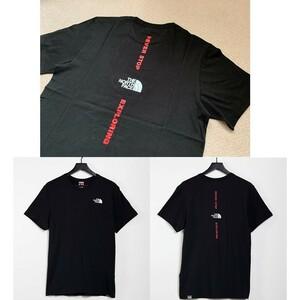 Lサイズ相当★限定★The North Face ノースフェイス バックロゴ 半袖Tシャツ 黒 ブラック