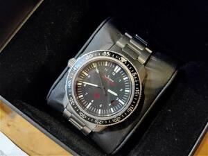 SINN(ジン) 603.EZM3 正規品 保証書付き、自動巻き 黒文字盤 純正SSベルト メンズ 機械式腕時計