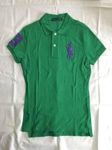 ★★【送料無料】ラルフローレン ポロシャツ レディースM(154-162) 緑 グリーン ビッグポニー ★★